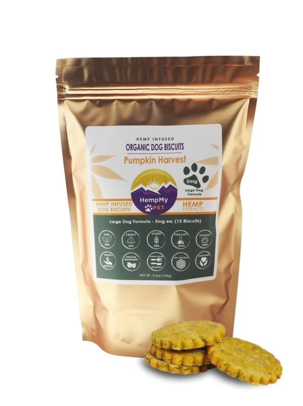 HEMP INFUSED ORGANIC DOG BISCUITS