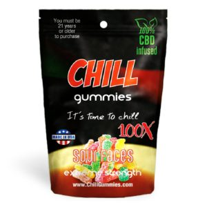 Diamond CBD | Chill Gummies CBD Infused Sour Face's