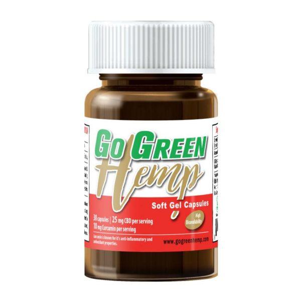 GoGreen Hemp CBD Soft Gel Capsules With Curcumin