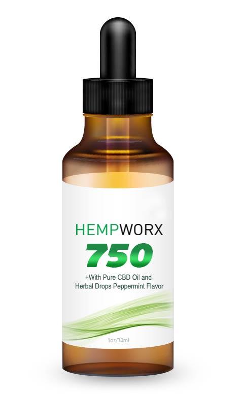 HempWorx 750mg THC FREE, CBD Oil, Organic, Full Spectrum, Buy CBD Oil Online