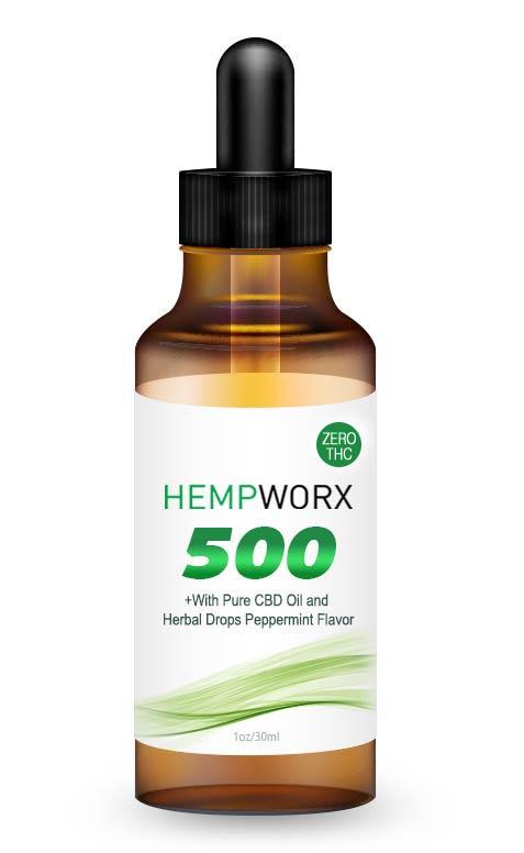 HempWorx 500mg THC FREE, Buy THC Free CBD, Buy CBD Oil Online, USA