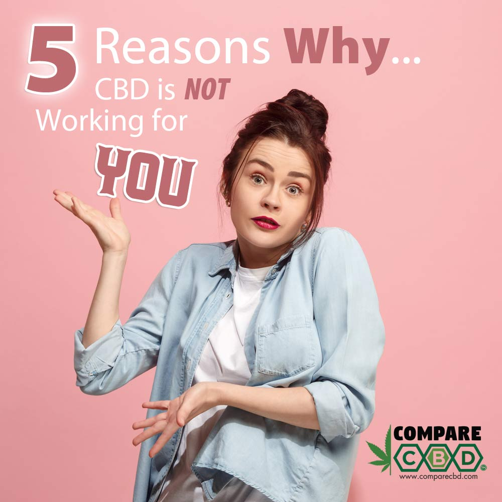 CBD Not Working, Reasons Why, Compare CBD, CBD Research
