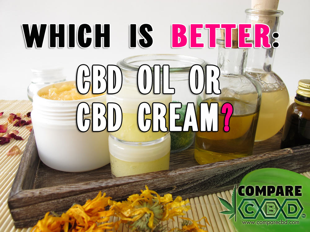 CBD Cream, CBD Oil, Compare CBD