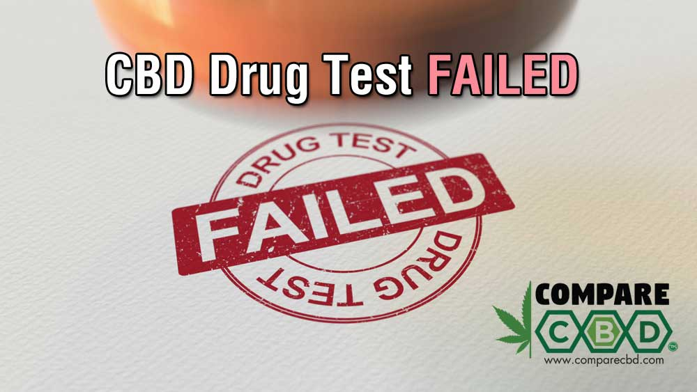 drug testing, drug test failed, CBD, compare CBD