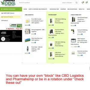 CBD Advertising, CBD Featured Products, Compare CBD