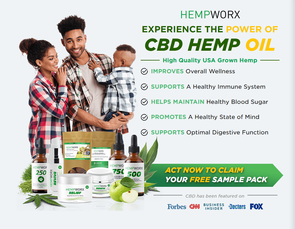 FREE HempWorx Samples, Try CBD for Free, CBD Samples